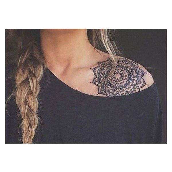 35 Cute Clavicle Tattoos for Women ❤ liked on Polyvore featuring accessories