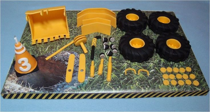 Best 25 digger cake ideas on pinterest digger birthday for Digger cake template