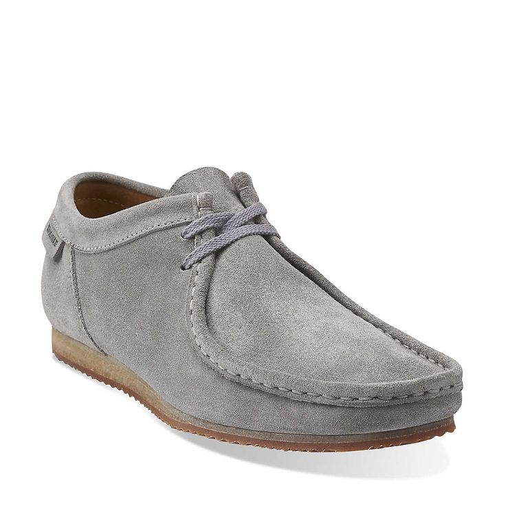 Wallabee Run in Grey Suede - Mens Shoes from Clarks