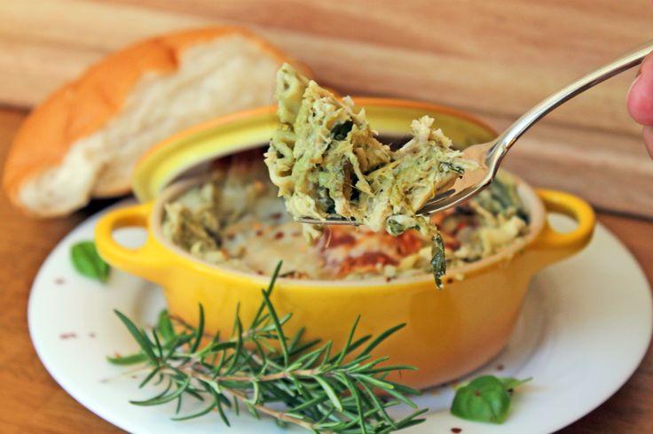 Three Cheese Spinach & Artichoke Chicken Lasagna {semi slow cooker!}   LIttle Kitchen, Big Bites