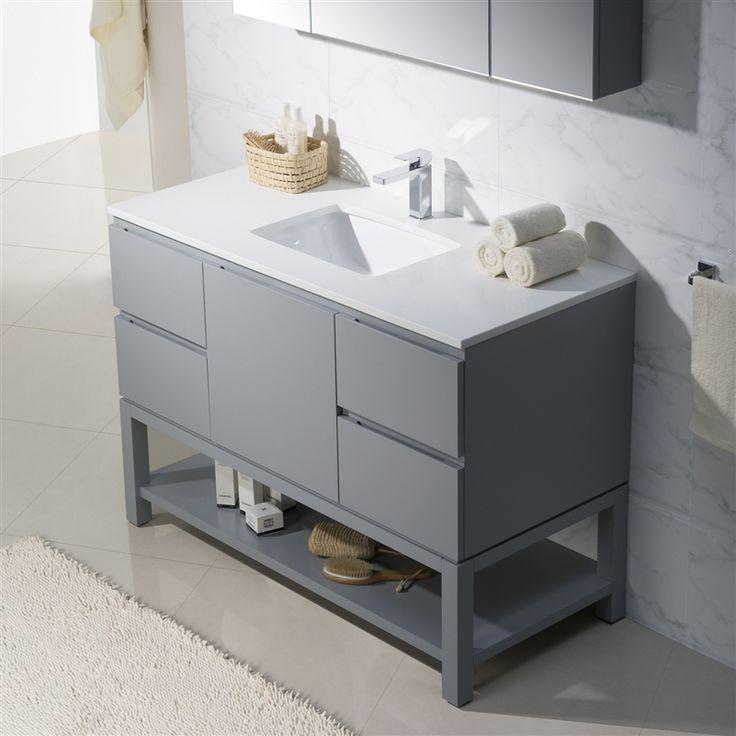 Photographic Gallery Modern Bathroom Vanity Emmet with Quartz Stone