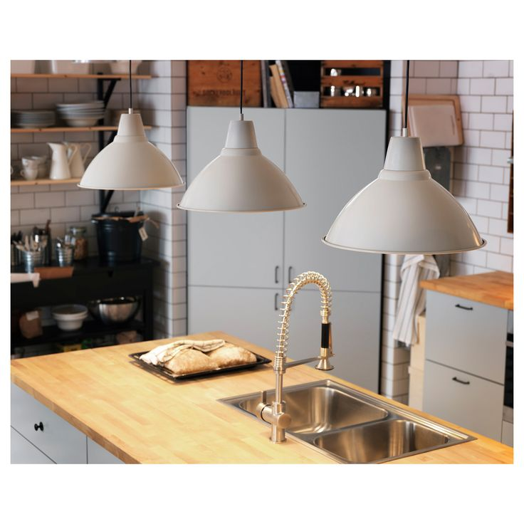 IKEA - FOTO, Pendant lamp, off-white, , Gives a directed light. Good for lighting dining tables or a bar area.
