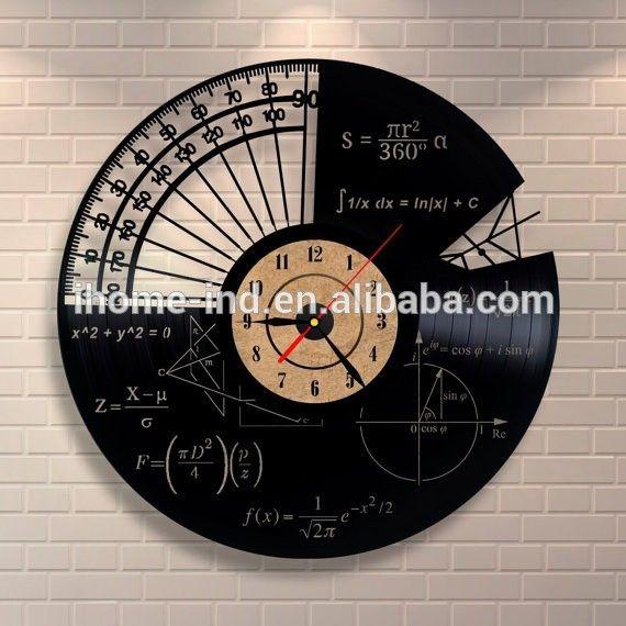 Индивидуальные Настенные Виниловые Пластинки Настенные Часы Математика Темы…