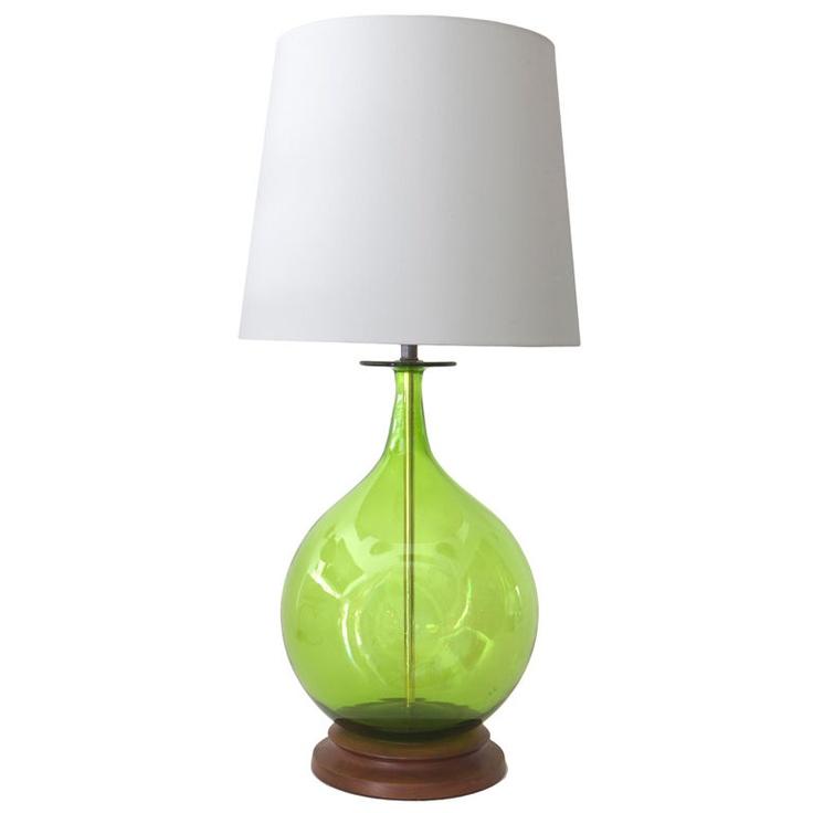 Blenko Green Table Lamp