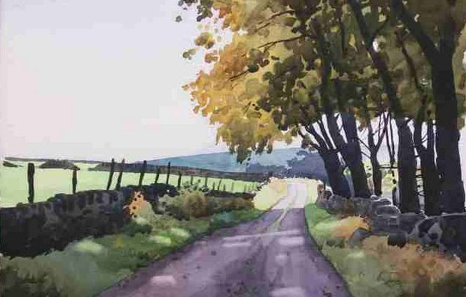 Watercolor, Paul Talbot-Greaves The Farsley and District Art Club in the UK shares some step-by-step photos of a watercolor demonstratio...