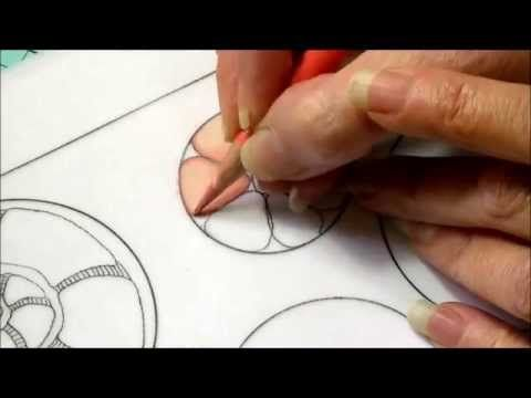 You'll regret not pinning this if you like to draw or do #zentangle !! Very good tutorial and this is just part 1. Color pencil tutorial. zentangel inspired art, color blending. Part One
