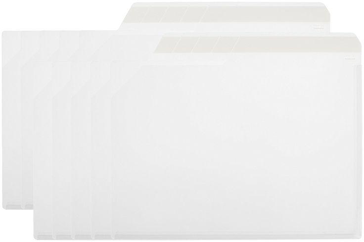 Amazon | ナカバヤシ クリアファイル どっさり個別ホルダー A4 10枚 ホワイト CH-4131W-10 | ドキュメントファイル | 文房具・オフィス用品
