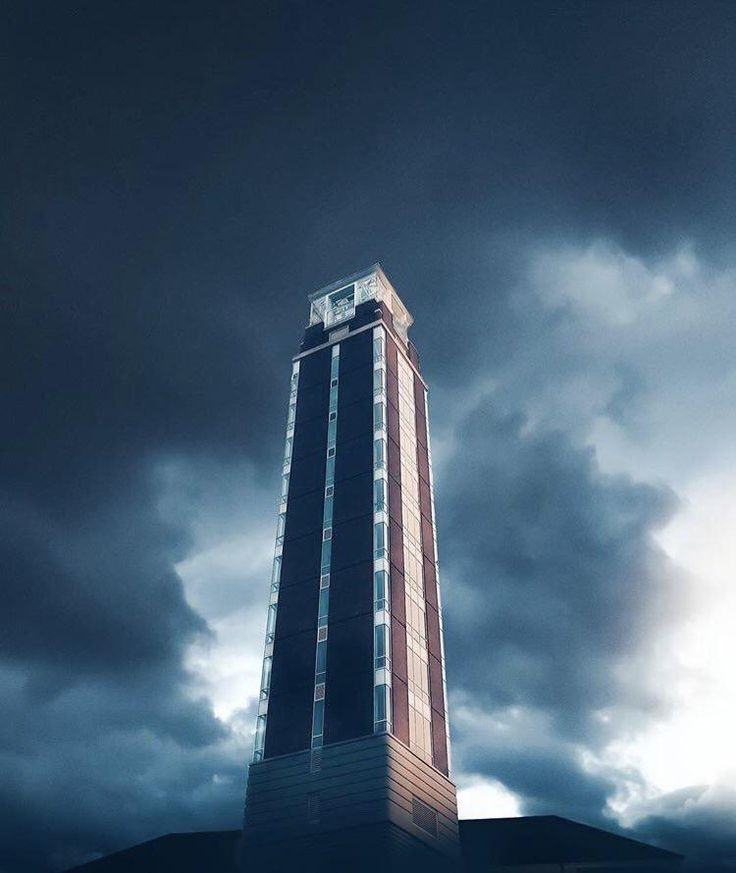 Jerry Falwell's new tower at Liberty University is just missing a fiery eye at the top.