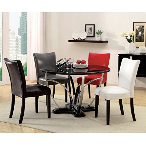 Furniture Of America Zelby Inch Round Highgloss Contemporary - 48 inch round contemporary dining table