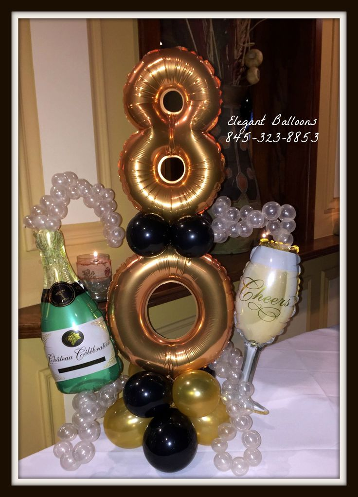 398 best images about elegant balloons on pinterest for Birthday balloon centerpiece ideas