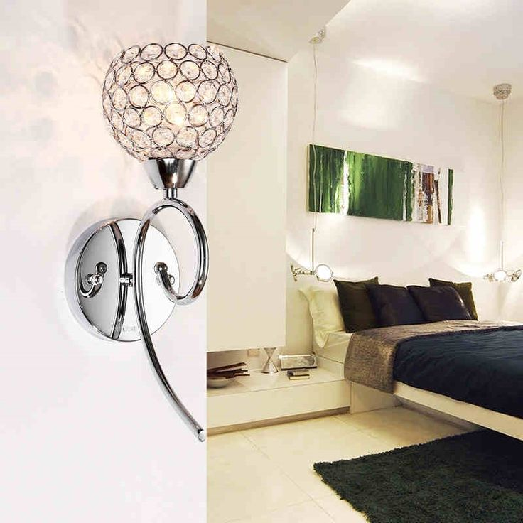 Z Modern Crystal Hardware Wall Lamp Bedroom Silver Gold Fitting Livingroom Sanitary Ware Aisle LED Lights