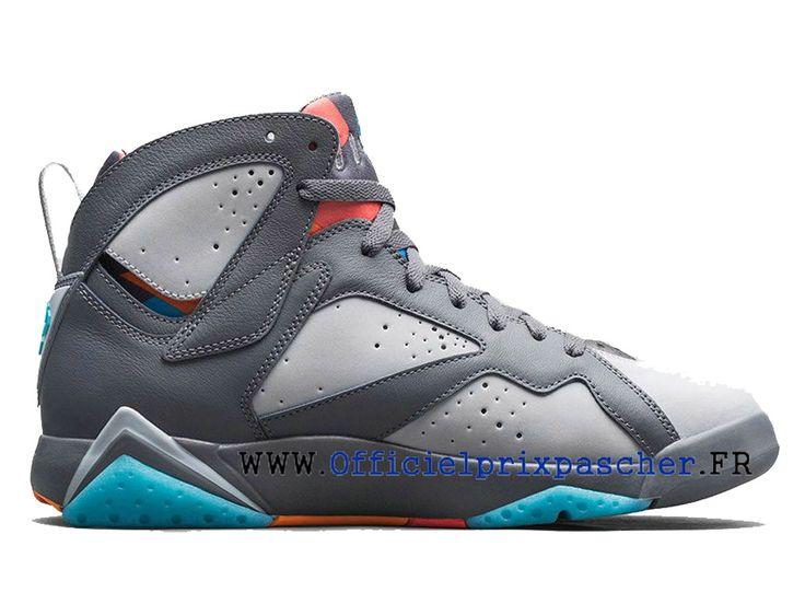 Air Jordan 7 Retro Chaussures Basketball Bon marché Pour Homme gris / bleu  304775-016