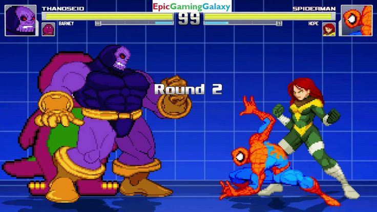 Hope And Spider-Man VS Thanoseid And Barney The Dinosaur In A MUGEN Match / Battle / Fight This video showcases Gameplay of Spider-Man The Superhero And Hope Summers The Superheroine VS Thanoseid And Barney The Dinosaur From The Barney & Friends Series In A MUGEN Match / Battle / Fight