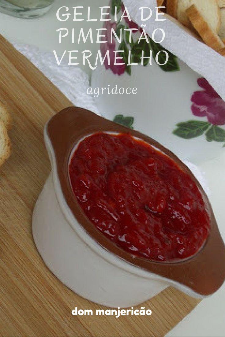 Essa geleia de pimentão vermelha é agridoce e tem cor e sabor surpreendente.