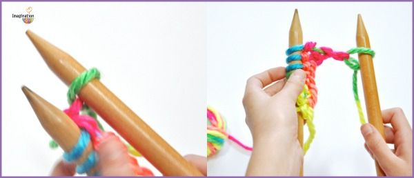 Teach your kids to knit takes two things, fine motor skills and attention span. Add in colorful yarn, bamboo needles, time, and patience and you're ready to learn!