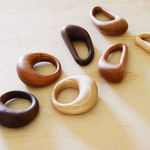 These are so beautiful!  Wood is meant to be a safe and great teether for babies too....add a little organic flaxseed oil on for extra vitamins.