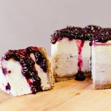 Montana Huckleberry Cheesecake