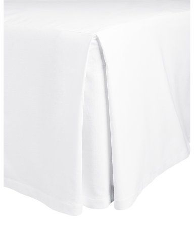 H&M King/Queen Bedskirt $49.95  Description  Three-sided bedskirt in thick canvas with two decorative pleats at front corners. Top section in cotton/polyester. Drop size 17 3/4 in. Details  100% cotton. Machine wash warm  Imported