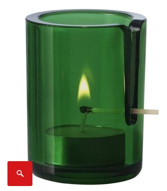 Never burn your fingers again with this smart tea light votive.                                                                                                                                                                                 More