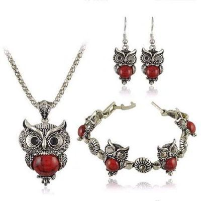 Owl Shape Decorated Simple Design Red