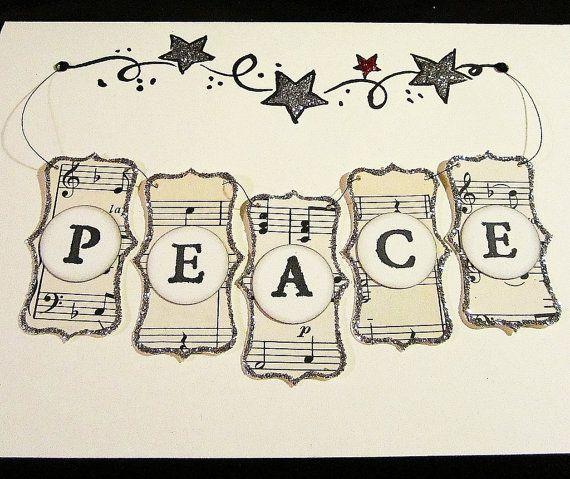 Christmas Card Vintage Style Handmade Greeting by kathyjacobson