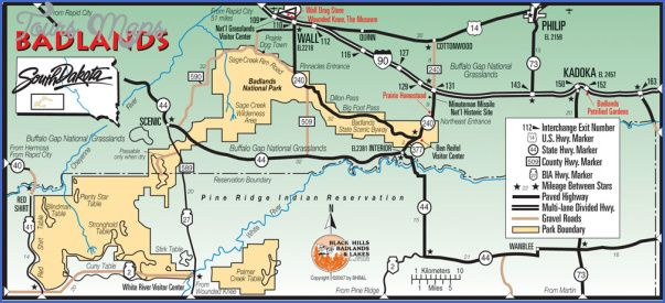 Nice Badlands National Park Map South Dakota Tours Maps