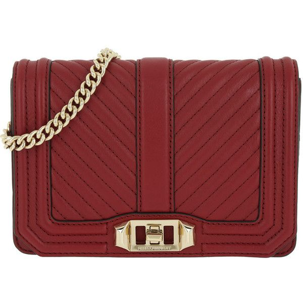 Rebecca Minkoff Shoulder Bag - Chevron Quilted Small Love Cro Deep Red... ($305) ❤ liked on Polyvore featuring bags, handbags, shoulder bags, red, red handbags, hand bags, quilted purses, red shoulder handbags and shoulder handbags