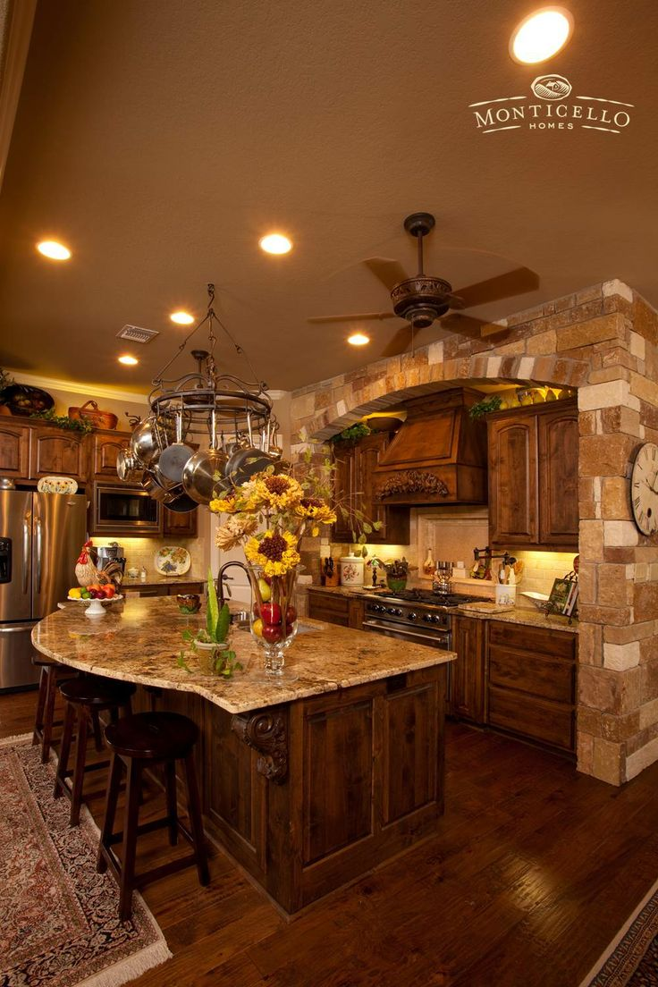 Gourmet kitchen monticello custom kitchens pinterest for Gourmet kitchen island