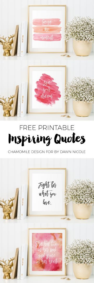 Free Printable // Inspiring Quotes for your home