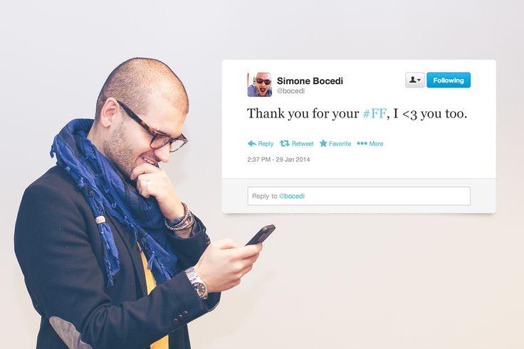 Twitter #FF Tweeter @Simone Bocedi
