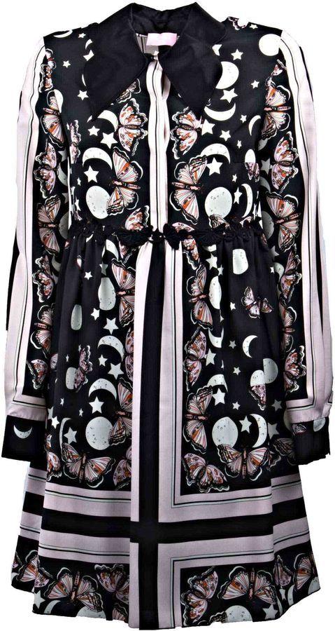 Giamba Butterfly Print Dress