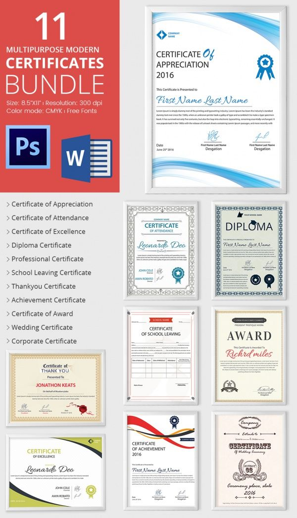 The 25+ best Certificate of achievement template ideas on - award certificate template word