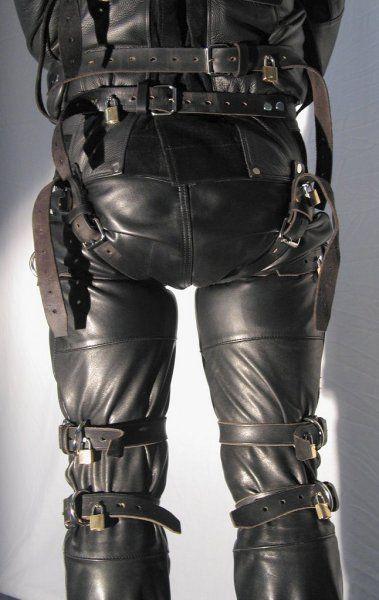 Suit leather bondage