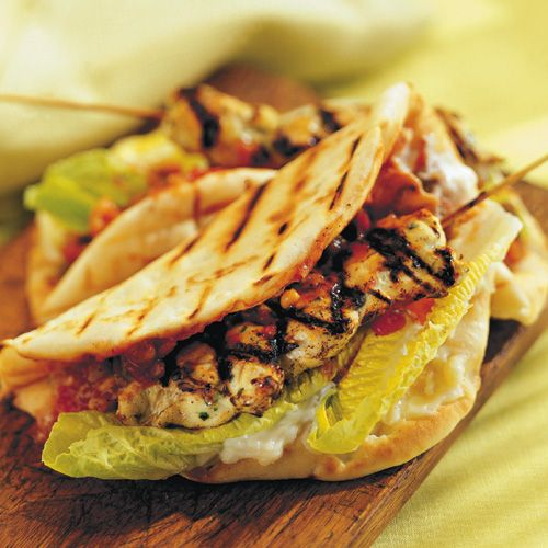 Skewered Chicken Pitas #recipe