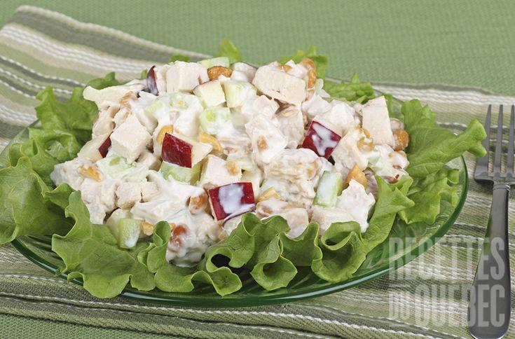 #Salade de pommes, #poulet et cheddar irrésistible #recettesduqc #sandwich #lunch