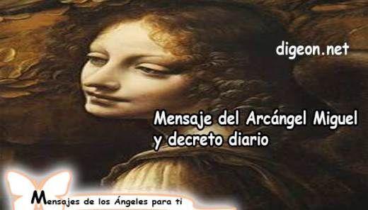 Mensaje del Arcángel San Miguel y decreto diario + decreto para Bendecir a un hijo/a
