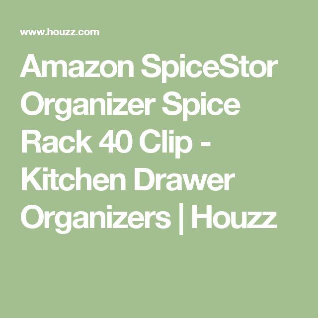 Photo Gallery For Website Amazon SpiceStor Organizer Spice Rack Clip Kitchen Drawer Organizers Houzz
