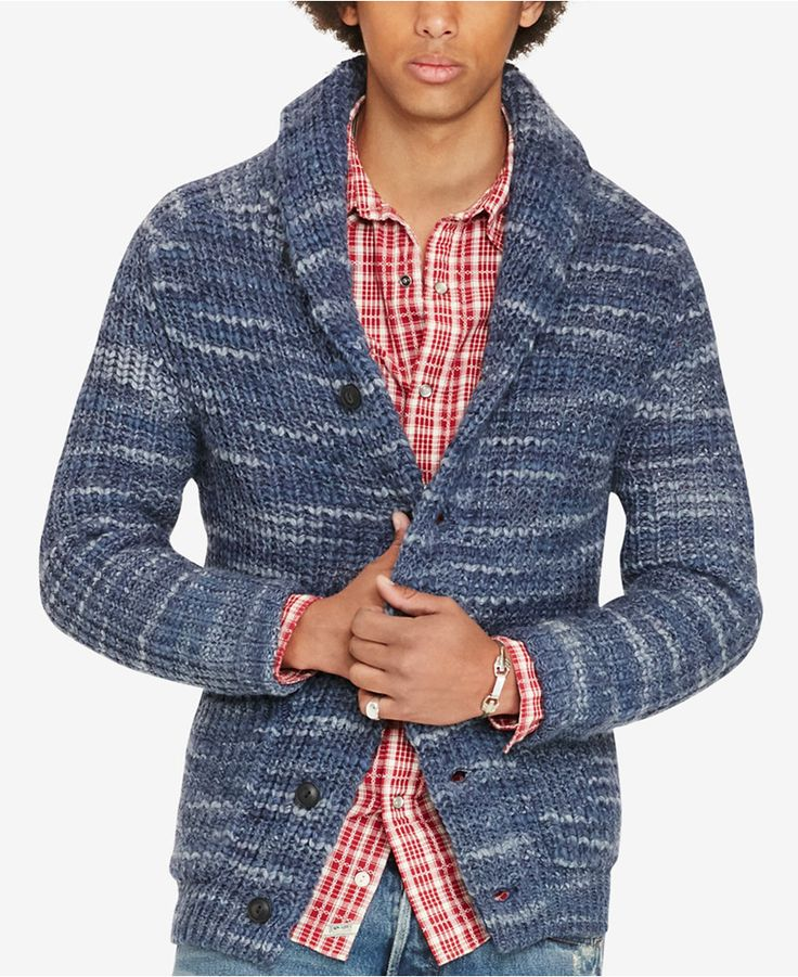 10705b4e7e Shops Denim   Supply Ralph Lauren Mens Cable Cardigan Mens Jumpers ...