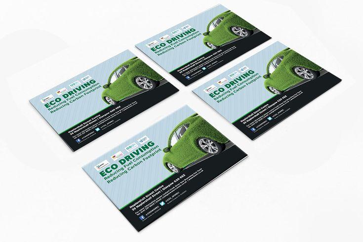 Eco-Friendly Driving Flyers: Landscape flyers for Cook Grow Sew's Eco-Friendly Driving Event. #graphicdesign #marketing #flyers #… | Brochure ...