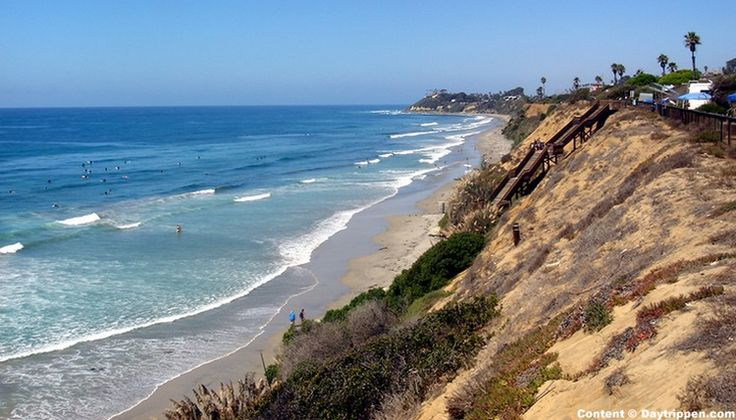 San Elijo State Beach camping reservations. Best campsites with beach views. Campground map nearby things to do. North San Diego County Cardiff-by-the-Sea
