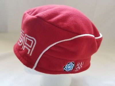 Roots USA 2006 Winter Olympics Cap Hat Beret Torino Adult Fleece size S/M