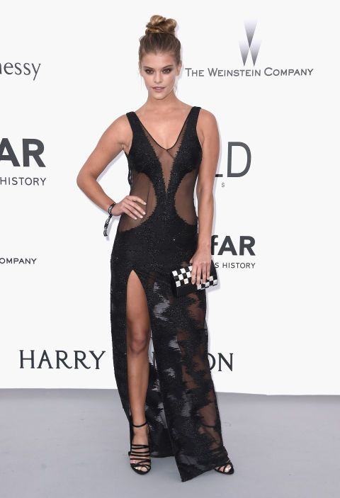 Nina Agdal. See what all the stars wore at the Cannes amfAR gala.