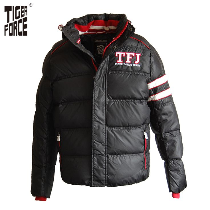 Find More Down Jackets Information about TIGER FORCE High Quality Men Fashion White Duck Down Jacket Winter Hooded Down Coat Solid Zipper Rib Sleeve Free Shipping D 403,High Quality rib cuff,China rib seats Suppliers, Cheap ribbed turtleneck from TIGER FORCE on Aliexpress.com