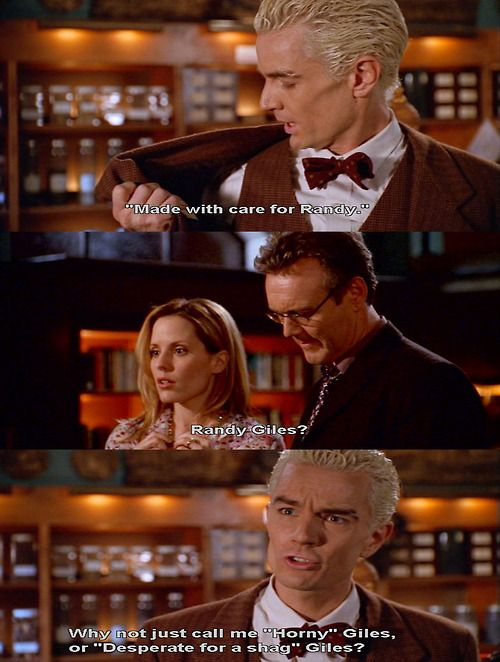 Randy Giles.: Randy Gile, Vampires Slayer, Buffy Quotes, Spikes Quotes, Joss Whedon, Buffy Boards, Funny Episode, Funny Crap, Btvs Spikes