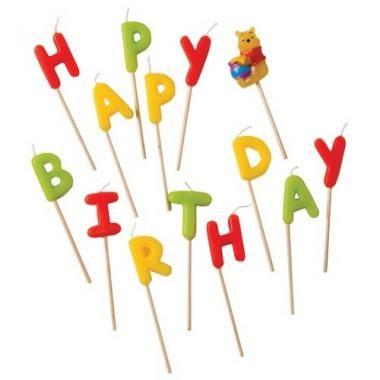 """Свечи-буквы """"Винни Happy Birthday"""", Procos"""
