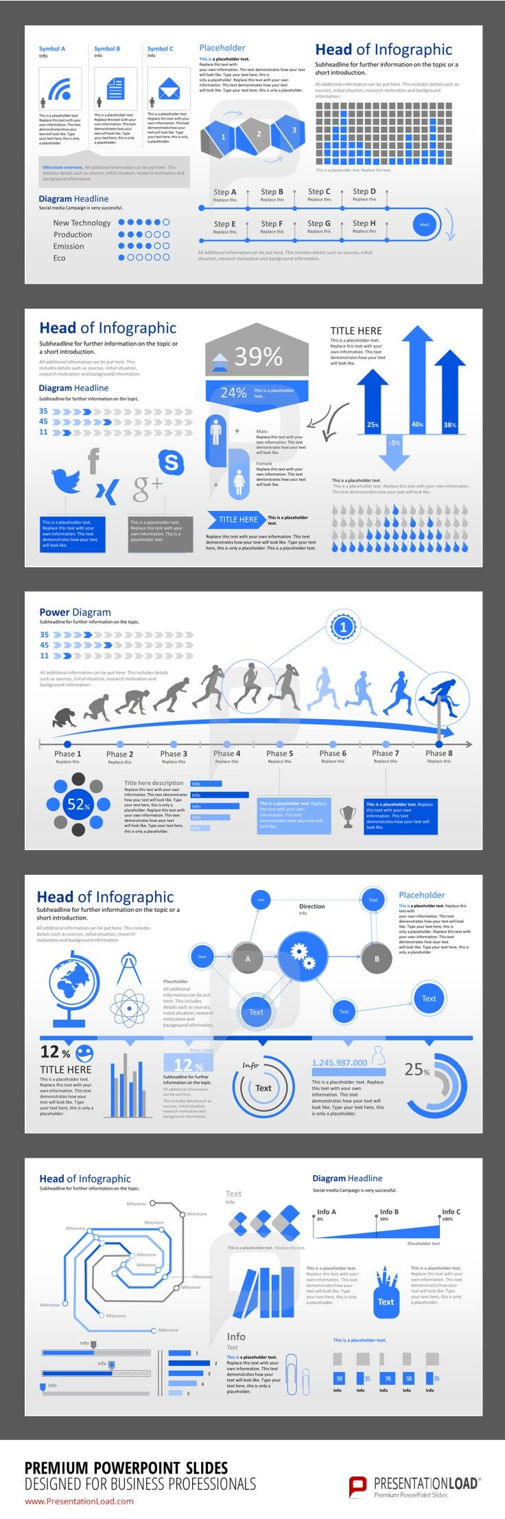 Infographic PowerPoint Templates Use Poll Charts, Thermometer Charts, Column Charts or Donut Charts to easily visualize important data. #presentationload www.presentationl...