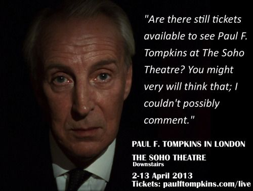 PAUL F. TOMPKINS IS ONLINE