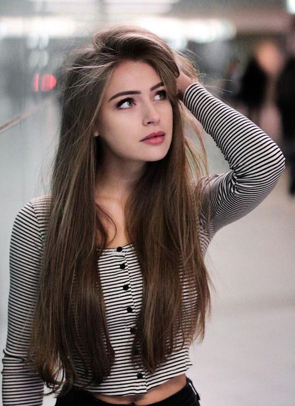 Easy Long Hairstyles You Can Wear To Work Hairstyles For Long Hair Beautiful Girl Face Portrait Photography Women Girl Photography Poses