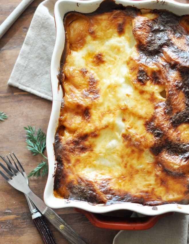 Hmm I've only had Moussaka in leftovers form...but even then it's sooo wonderful!! Someday I must learn how to make it!