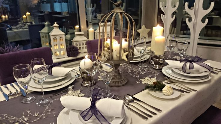 Christmas table decorations #lavender #poznań  #restaurant